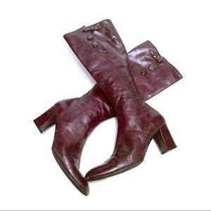 Sigerson Morrison Leather Block Heeled Boots